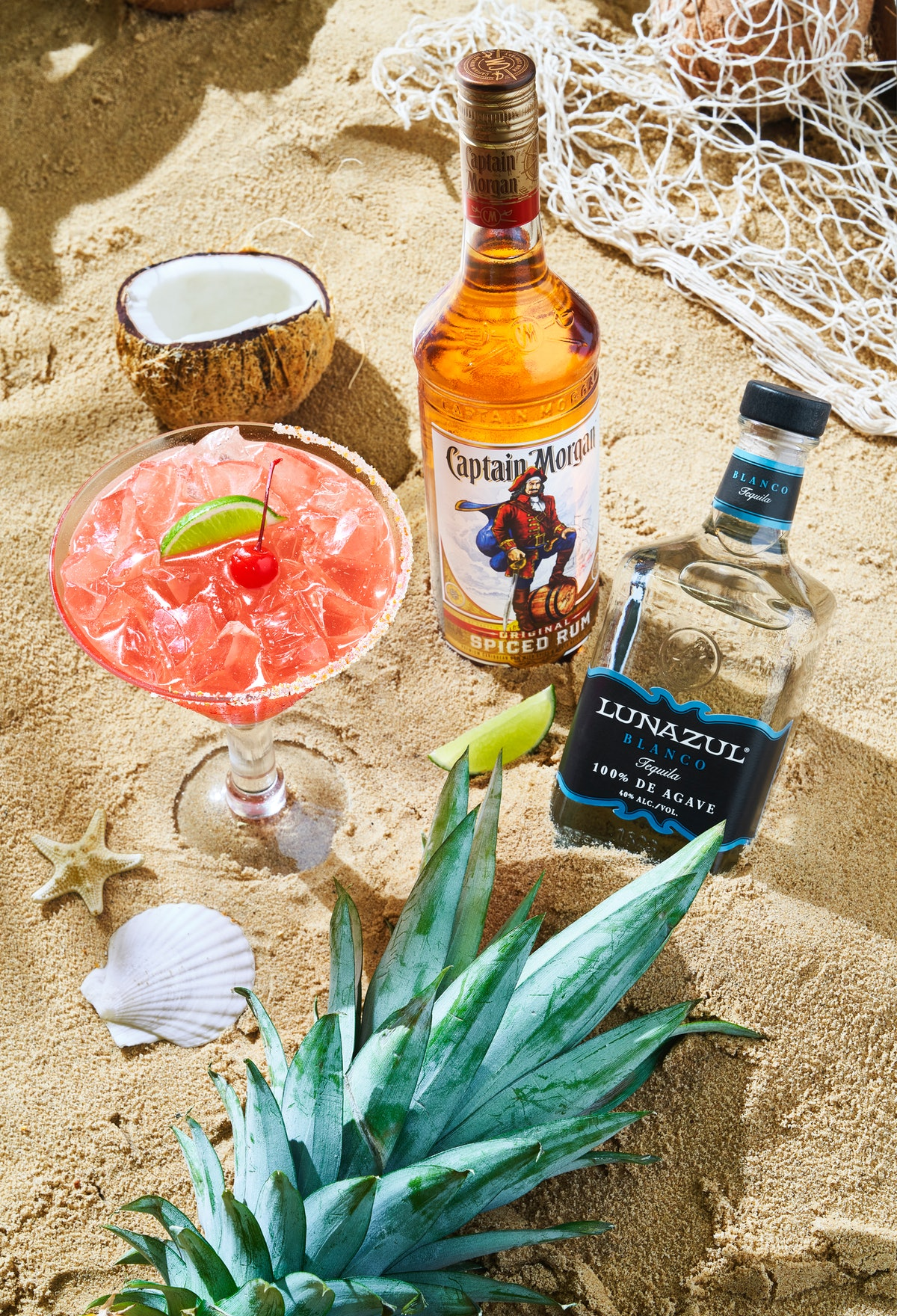 Chili's has a tropical marg of the month for July 2021 that combines rum and tequila.