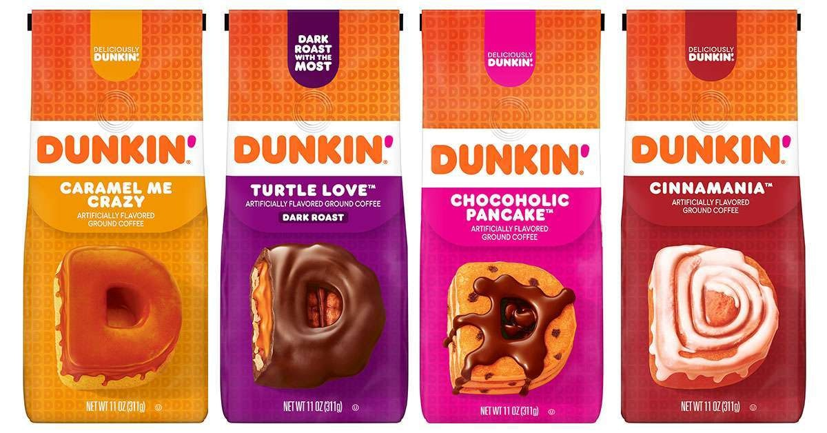 Dunkin' dropped four new at home coffees.