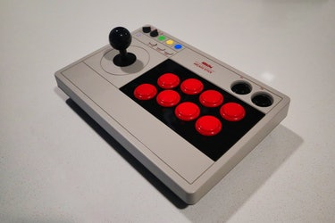 8BitDo Arcade Stick review for PS4 with Wingman XE converter for playing fighting games