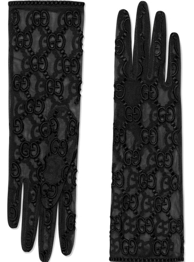 Gucci Tulle gloves with GG motif