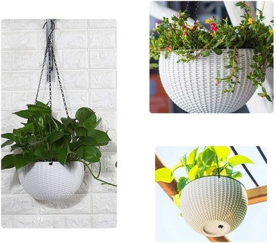YCOCO Self Watering Hanging Planters (Set of 2)