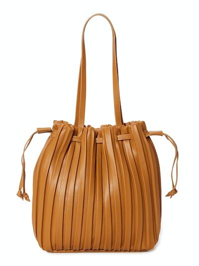 Pleated Bucket Handbag