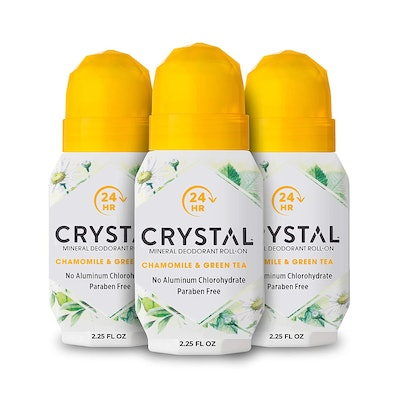 Crystal Mineral Deodorant Roll-On (2.25 Oz, 3-Pack)