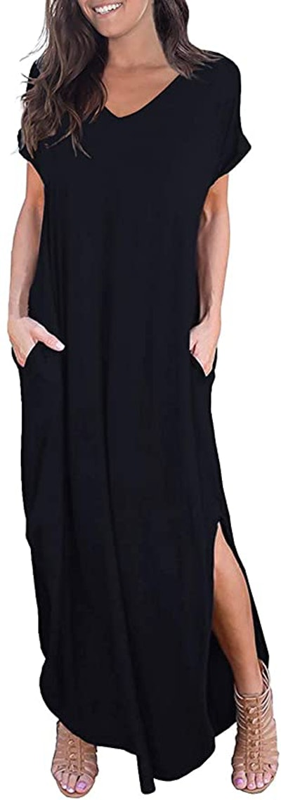 GRECERELLE Short Sleeve Maxi Dress