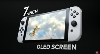 Nintendo Switch (OLED model) with 7-inch OLED display