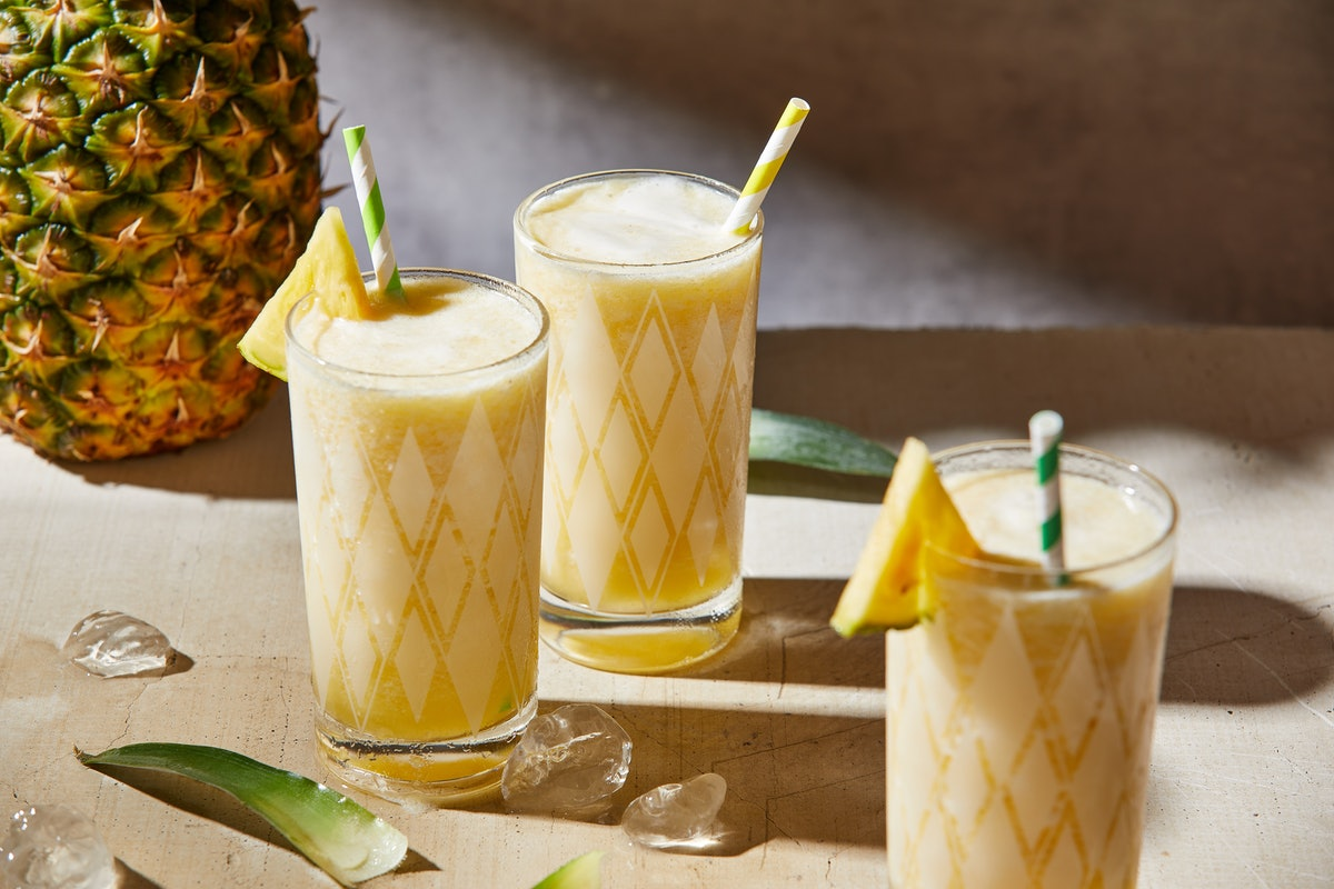 These Piña Colada drinks are perfect for when you don't want to use a blender.