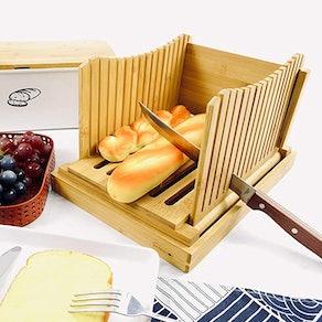Purenjoy Foldable Bamboo Bread Slicer