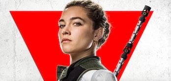 Florence Pugh is Yelena Belova in Black Widow character poster