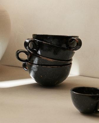 Antique Stoneware Finish Mug
