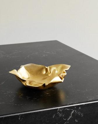 Fold Gold-tone Dish