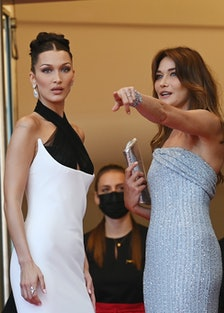 Bella Hadid and Carla Bruni
