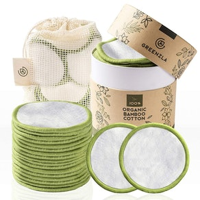 Greenzla Reusable Bamboo Cotton Rounds (20-Pack)