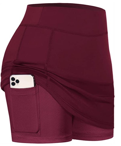 BLEVONH Tennis Skirt with Shorts