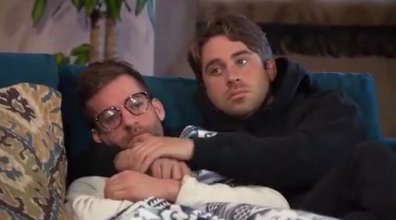 Connor B. and Greg Grippo cuddling on 'The Bachelorette'