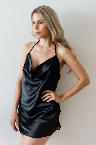 Celine Satin Slip Dress
