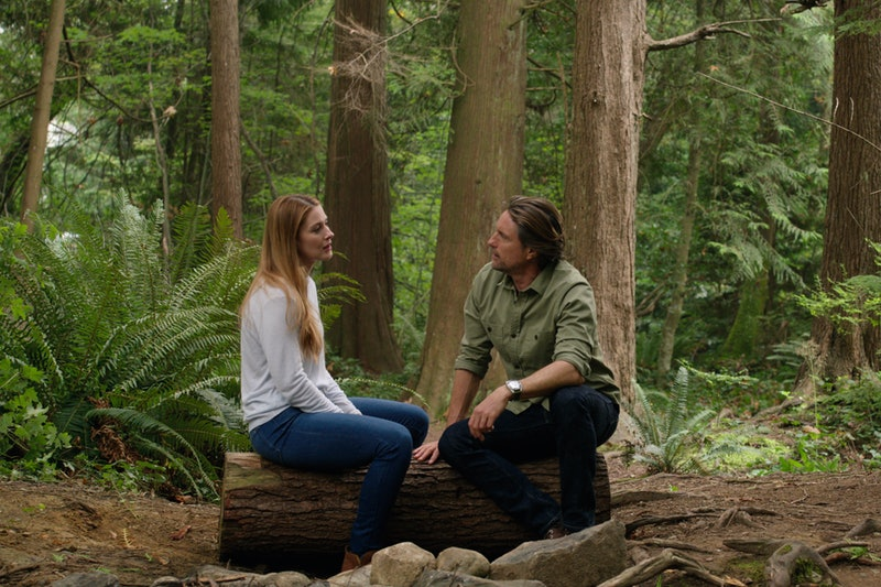 Many of Jack and Mel's most memorable 'Virgin River' moments happen outdoors. Photo via Netflix