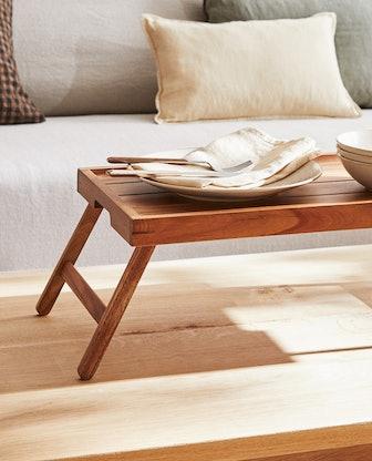 Folding Wooden Tray