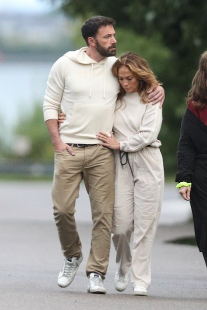 Ben Affleck and Jennifer Lopez celebrate the Fourth of July with matching outfits in the Hamptons.