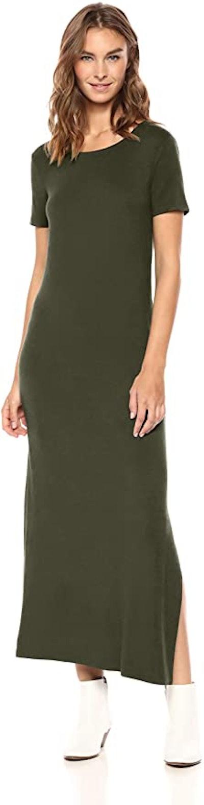 Daily Ritual Jersey Crewneck Maxi Dress