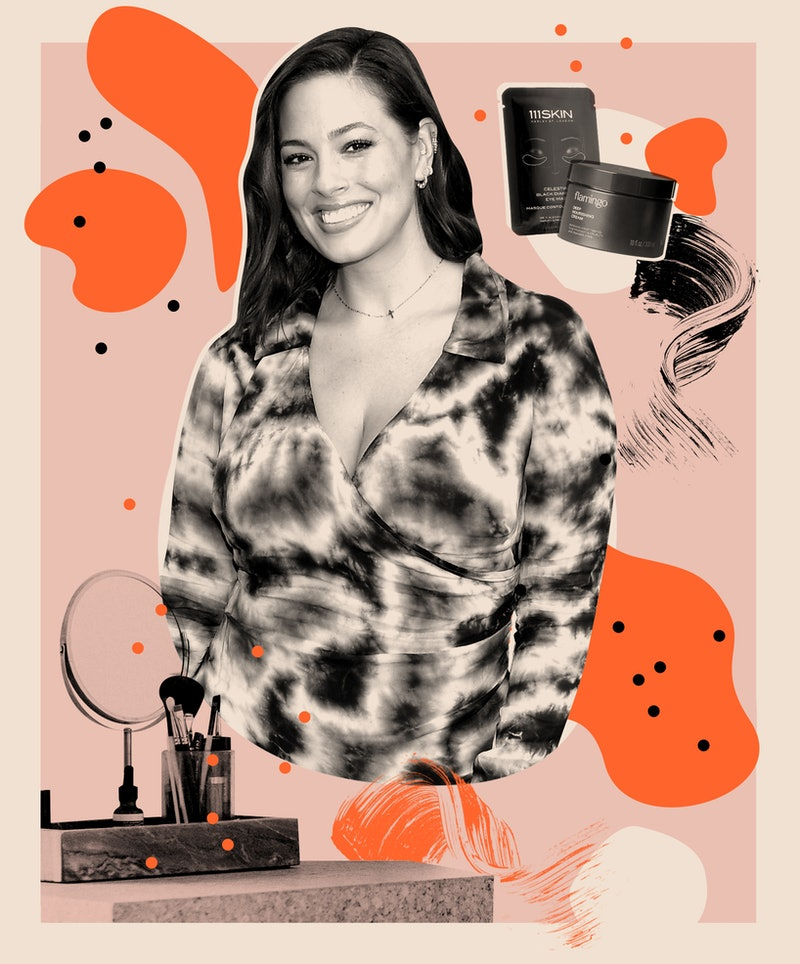 Ashley Graham tells Bustle about her skin care faves, makeup must-haves, and the DIY remedy she turned to for postpartum hair loss.