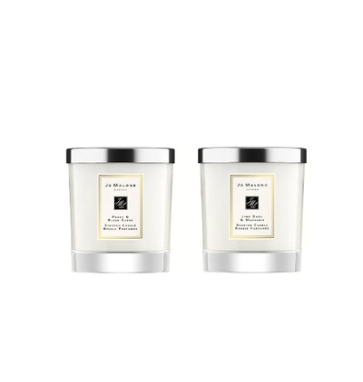 Jo Malone Peony & Blush Suede and Lime Basil & Mandarin Scented Home Candle Set