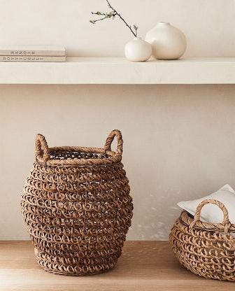Tall Banana Leaf Basket