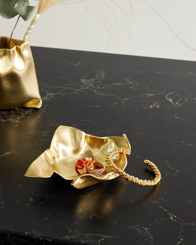 Completedworks' new Housewares collection includes a gold-tone dish