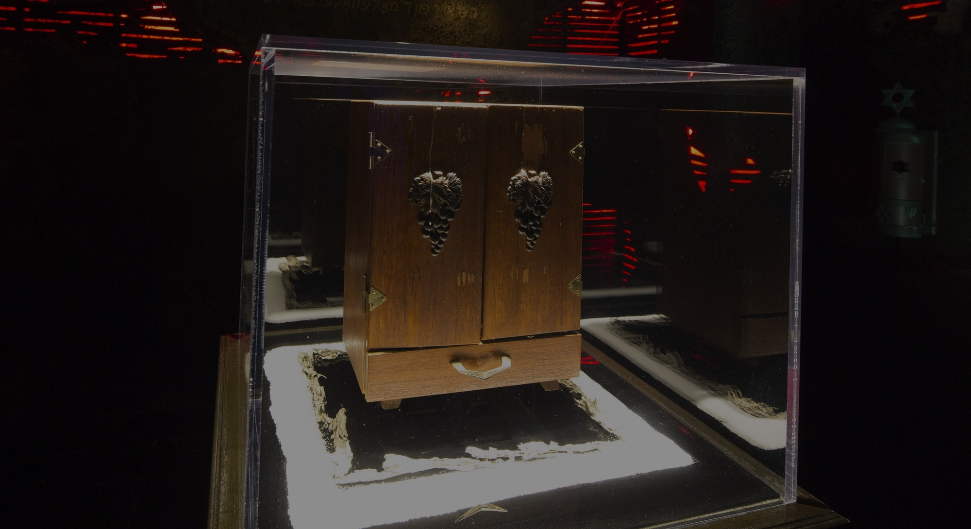 The Dybbuk Box on display at the Haunted Museum in Las Vegas