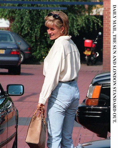 Diana, Princess of Wales, pictured today (Mon) at the Chelsea Harbour Club, which she attended with ...