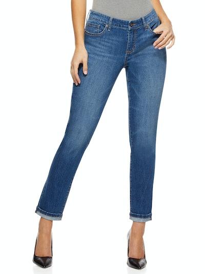 Women's Bagi Boyfriend Mid Rise Jeans