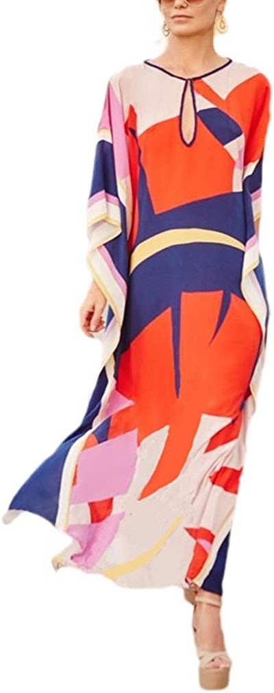 Bsubseach Geometric Beach Maxi Dress