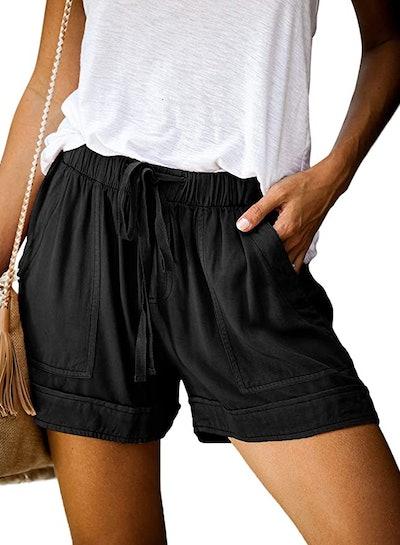 Dokotoo Drawstring Pocketed Shorts