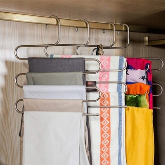 DOIOWN S-Type Pants Hangers (3-Pack)