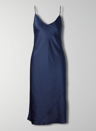 Wilfred Only Slip Dress In Classic Navy
