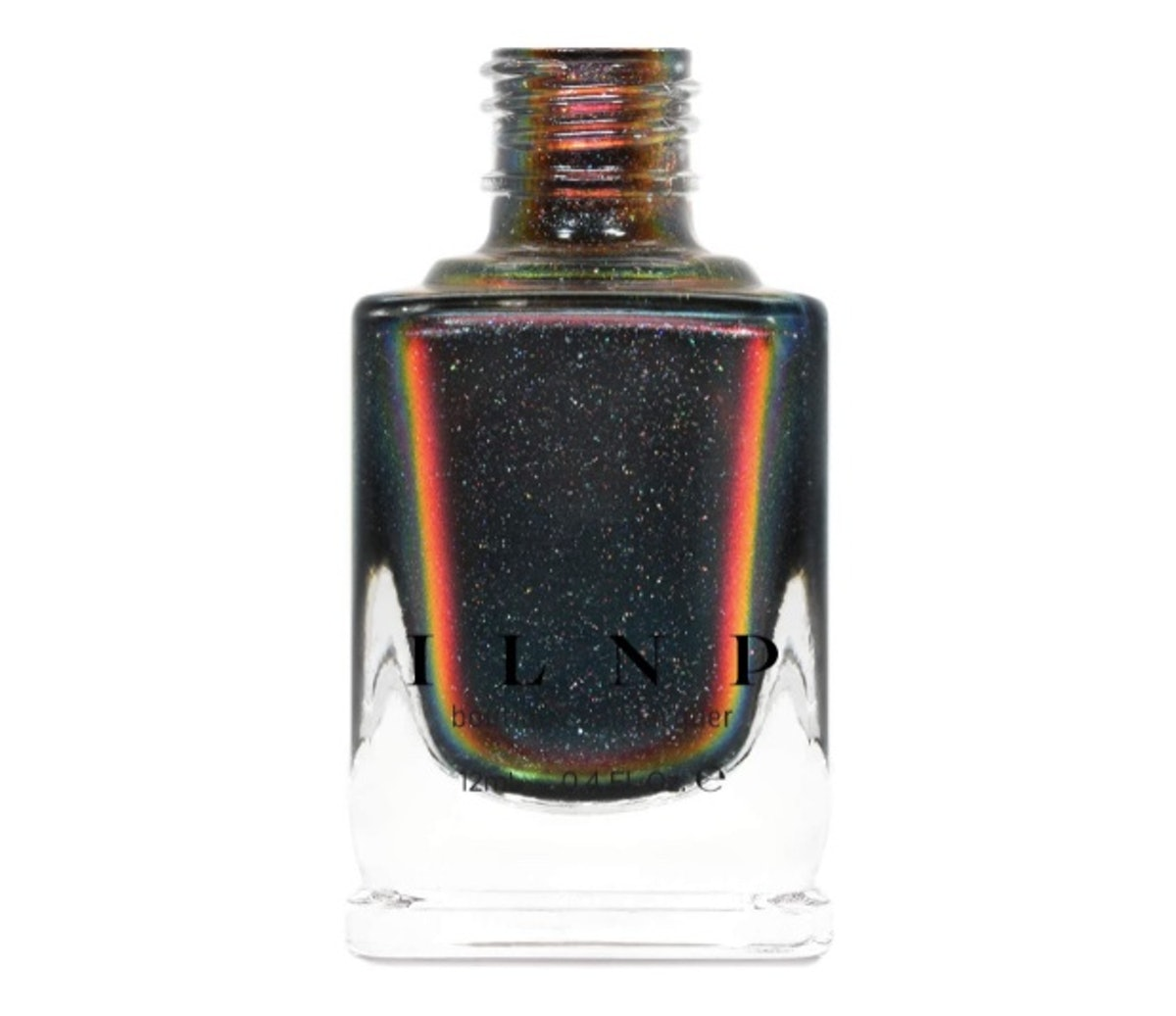 ILNP Eclipse Black to Red Holographic Ultra Chrome Nail Polish