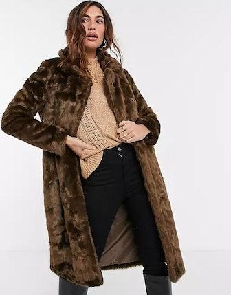 Urban Code Longline Faux Fur Coat