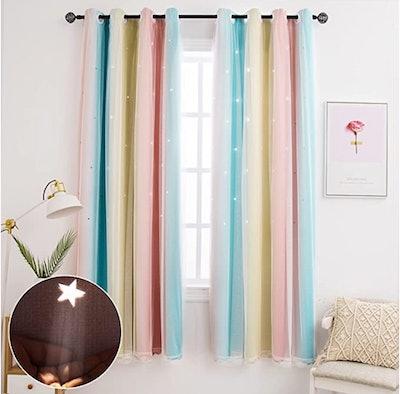Rainbow Nursery Curtains