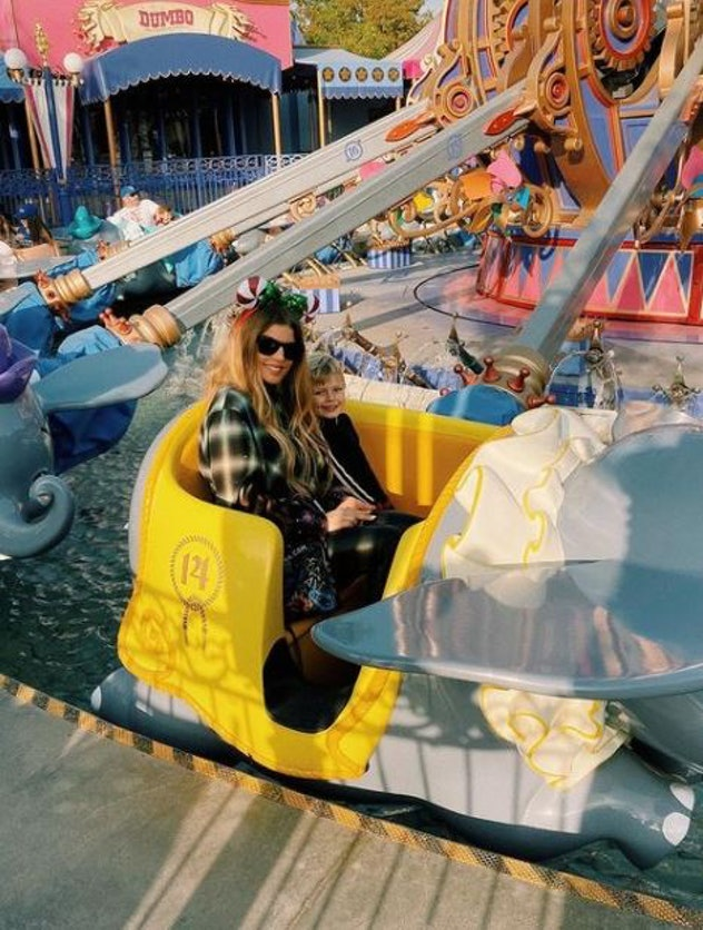 Fergie and son, Axl Jack, at Disneyland on January 2, 2020.