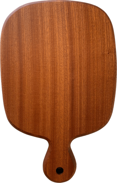 Sapele Cutting/Charcuterie Board with Curved Handle