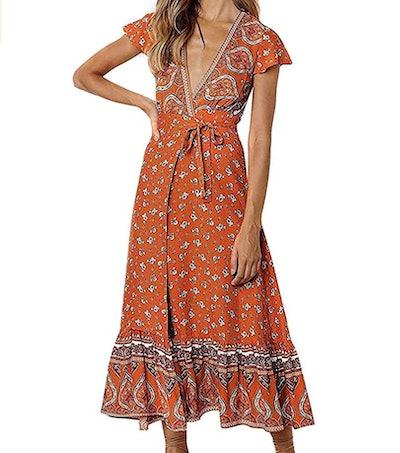 ZESICA Beach Party Maxi Dress