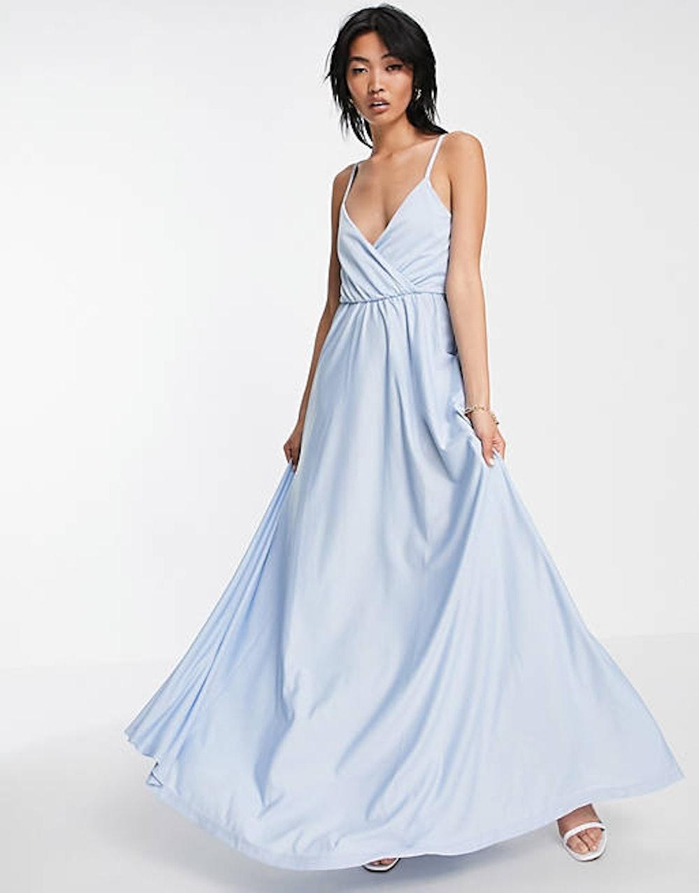 Cami Plunge Tie Back Maxi Dress