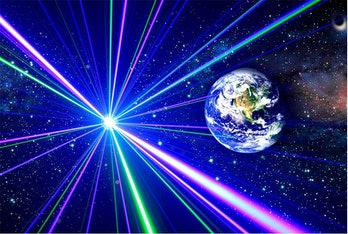 lasers surrounding earth