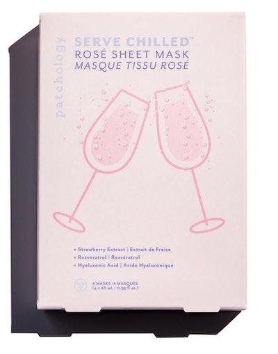 Serve Chilled Rosé Sheet Mask (Pack of 4)