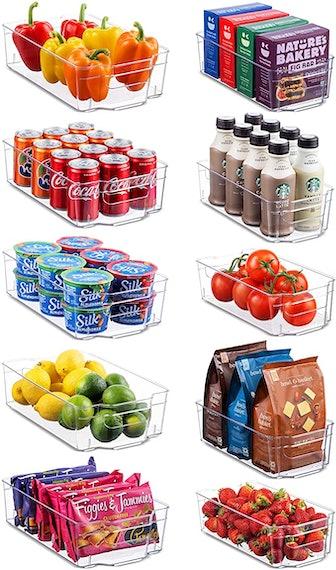 Seseno Refrigerator Organizer Bins (10-Pack)