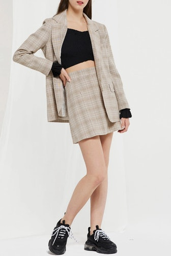 Adina Plaid Jacket And Skirt Set
