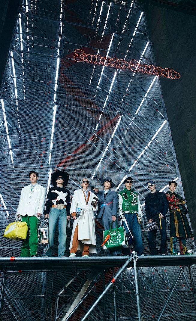BTS for Louis Vuitton Fall 2021 Men's Collection.