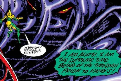 Renslayer, Kang, and Alioth have an interesting Marvel Comics history. Screenshot via Marvel