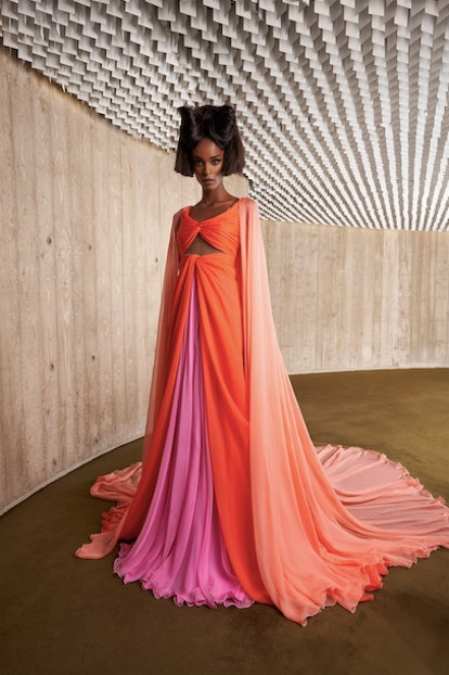 From Schiaparelli's toe shoes to Giambattista Valli's tulle, find the top moments from Fall 2021 Cou...
