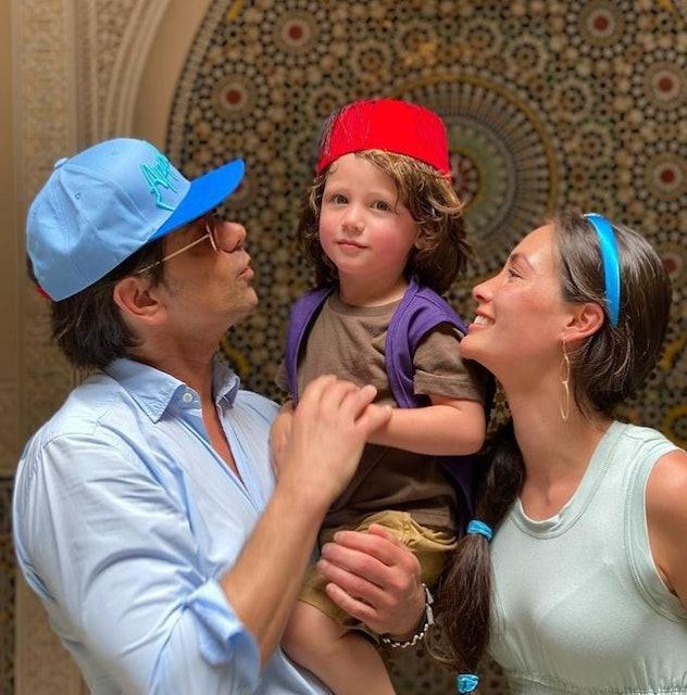 John Stamos, his wife, Caitlin McHugh, and their son Billy at Walt Disney World on April 24.