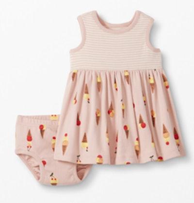 Baby Dress & Bloomer Set In Organic Cotton